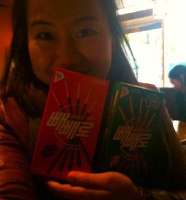 Juno Celebrating Pepero Day Nov 11 2011