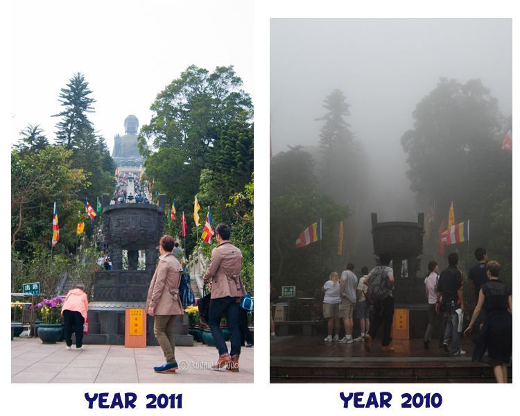 Big Buddha, before and after