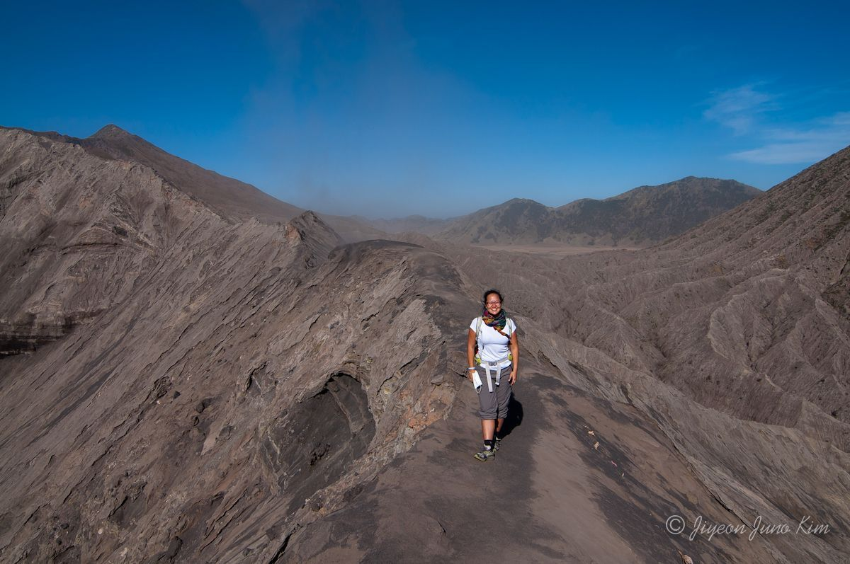 At the top of Mt.Bromo in Indonesia