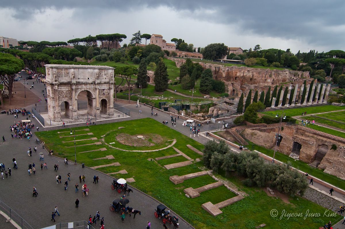 The Arch of Constantine in Rome, Italy