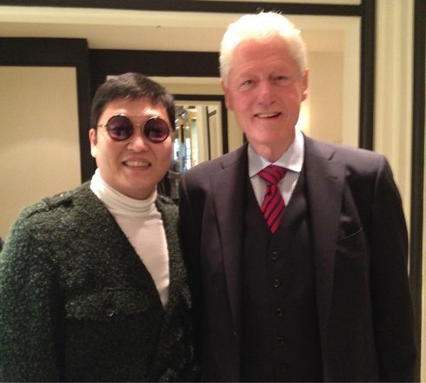Psy met President Clinton