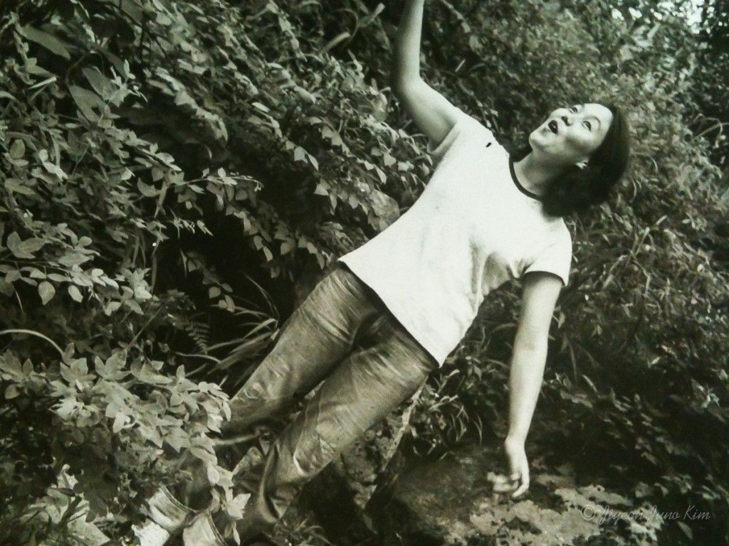 My mum, in the mountains.