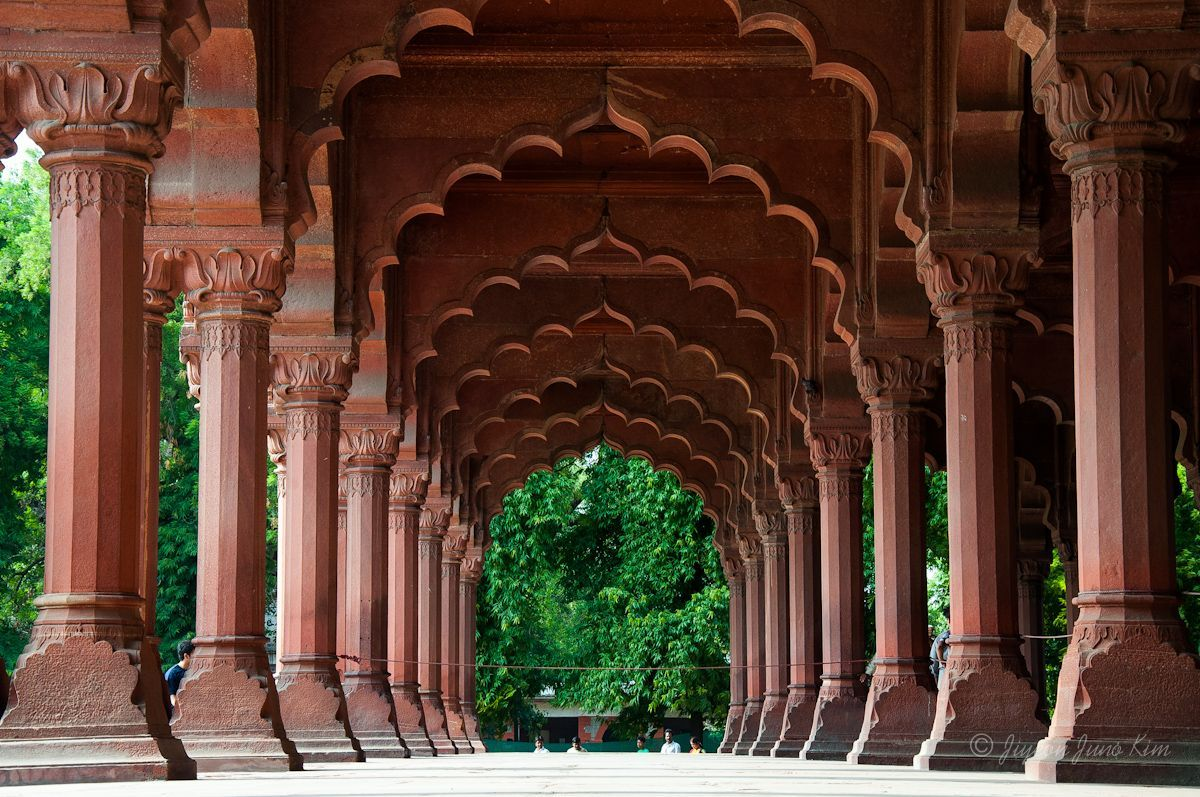 Red Fort arches India
