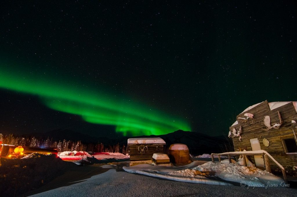 Northern Lights seen at Coldfoot Camp, Alaska