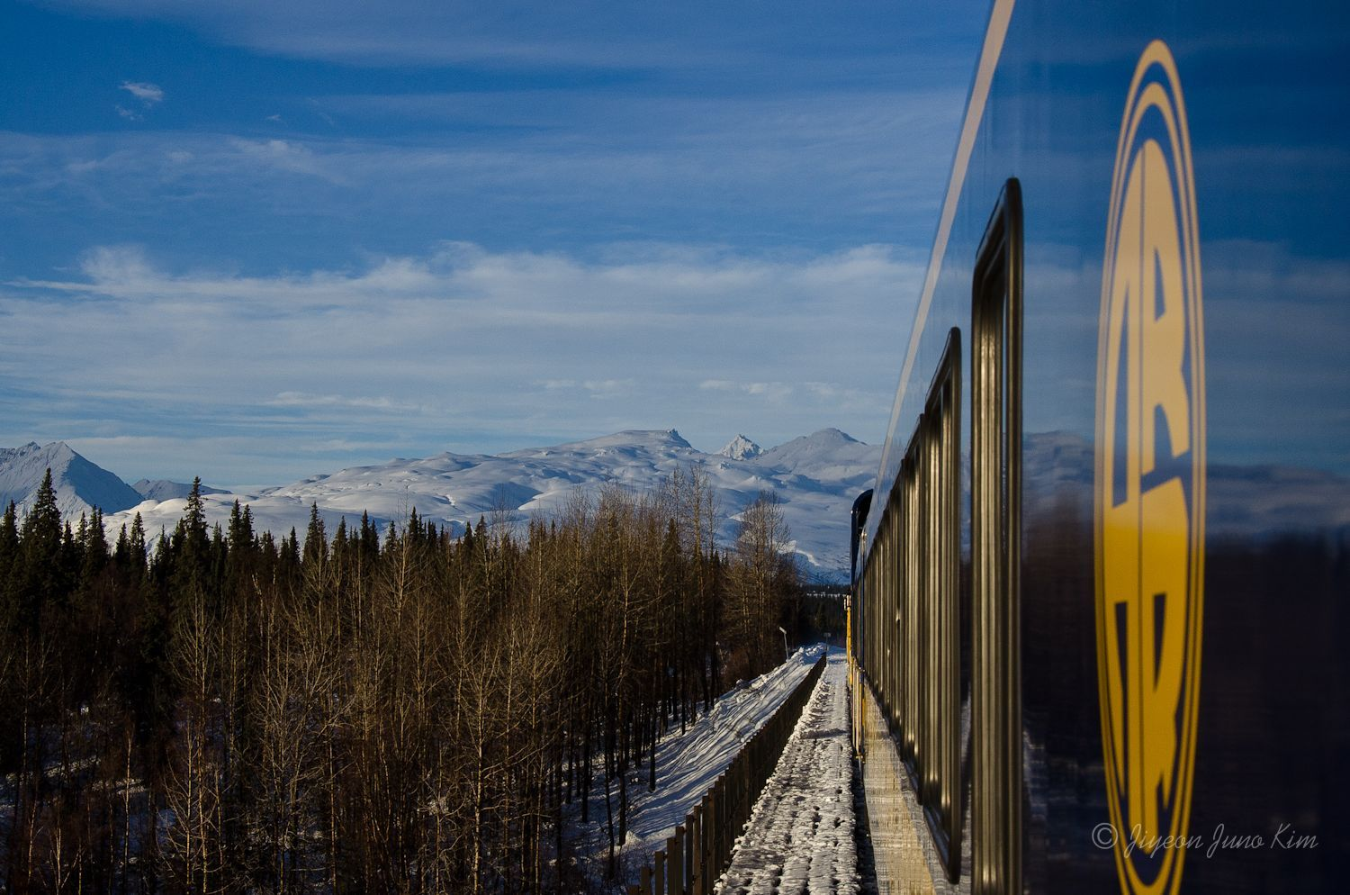 Alaska Railroad Aurora Winter Train