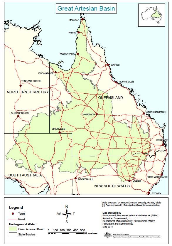The Great Artesian Basin Map