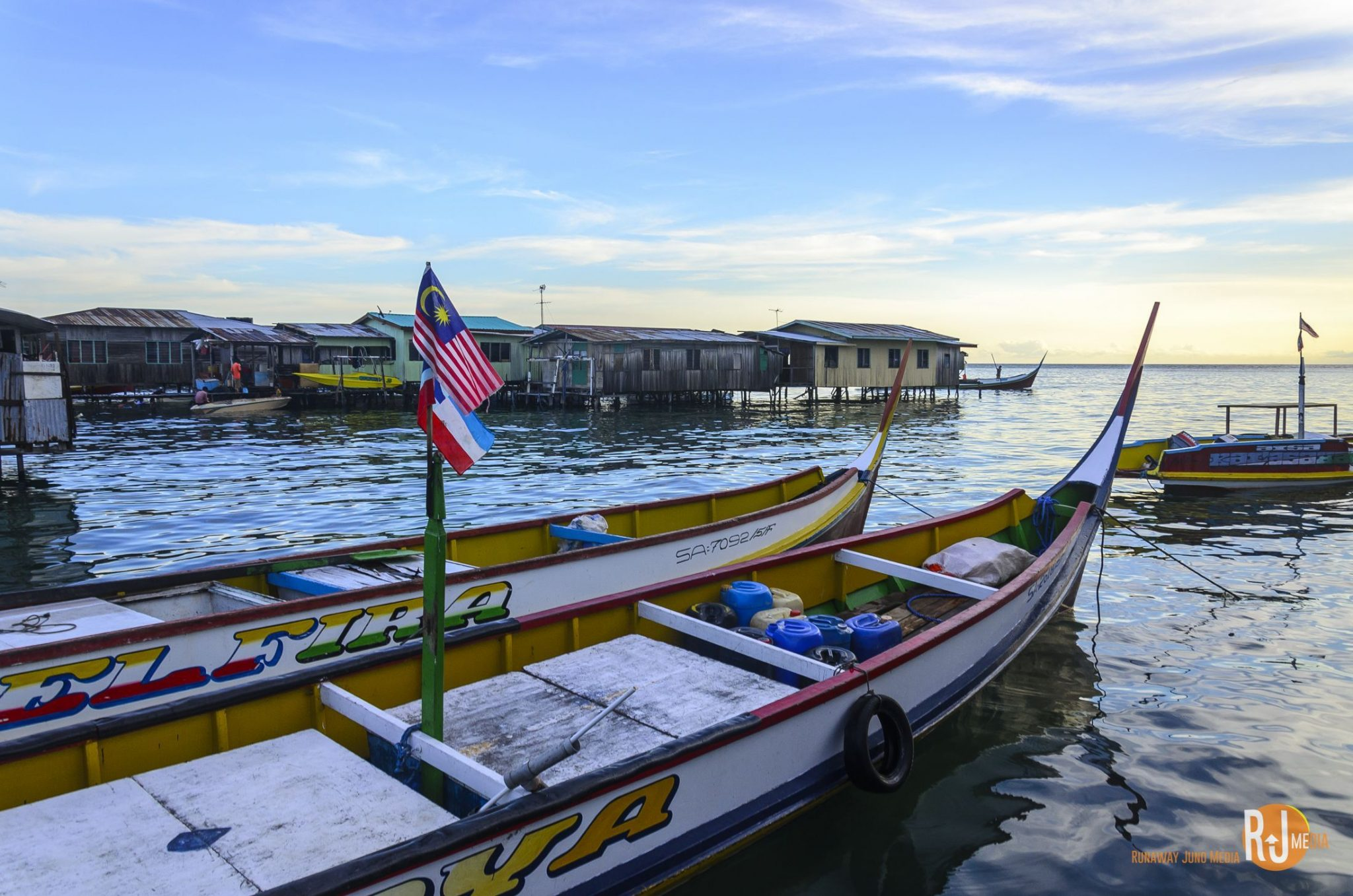 Stilt Village in Mabul Island, Borneo