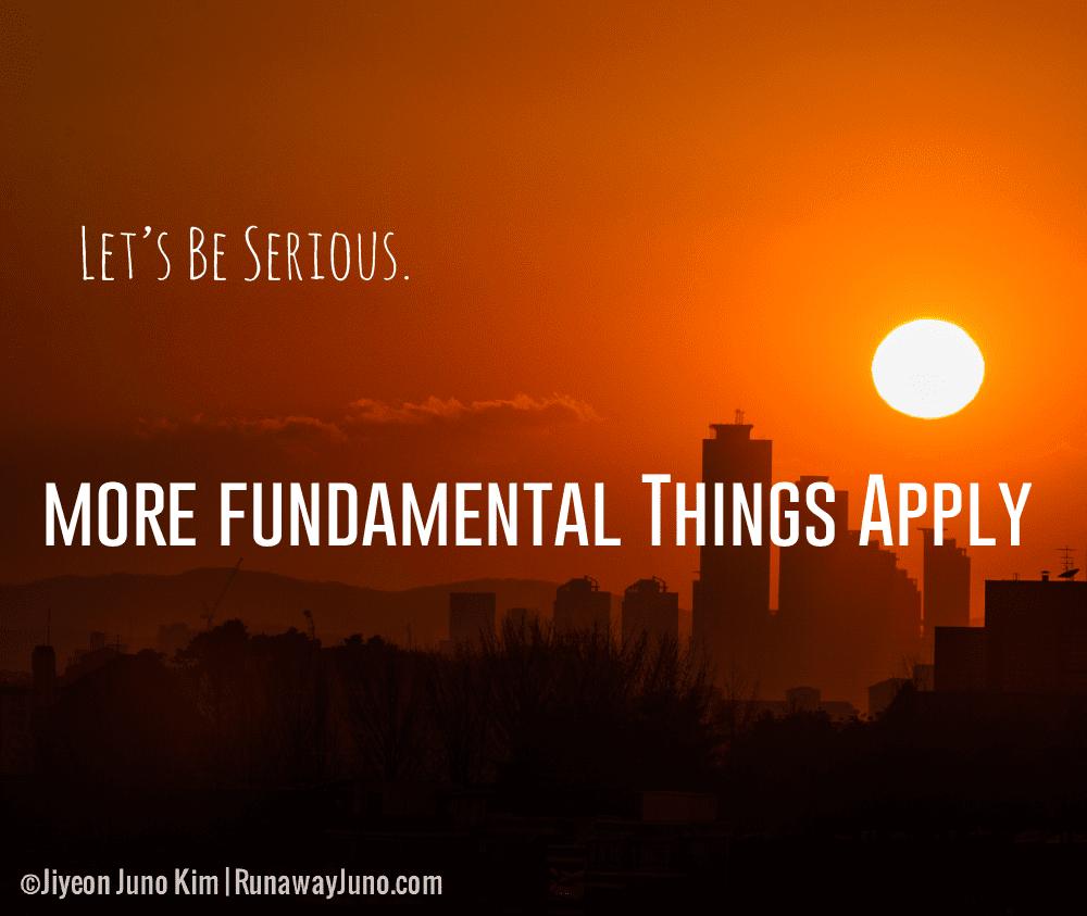 The Fundamental Things Apply
