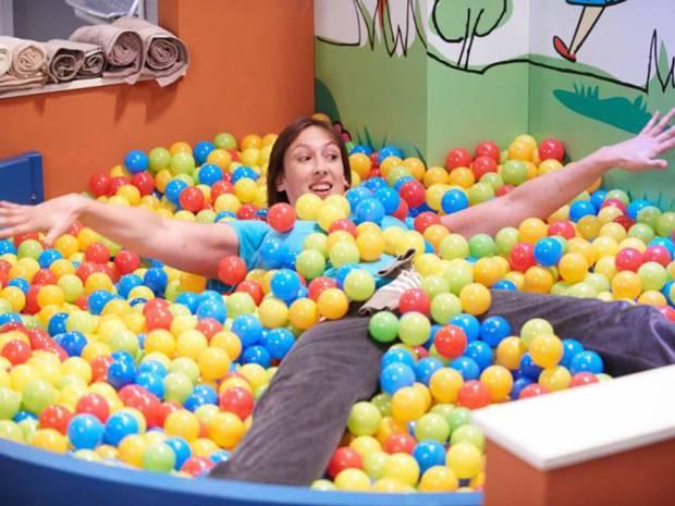 Miranda in a ball pool