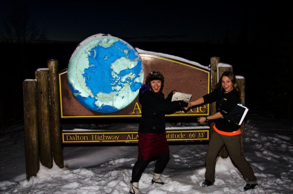 Crossing the Arctic Circle in Alaska