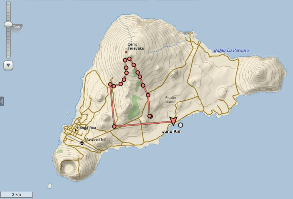 Terevaka hiking via DeLorme InReach