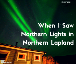 northern lights in northern lapland