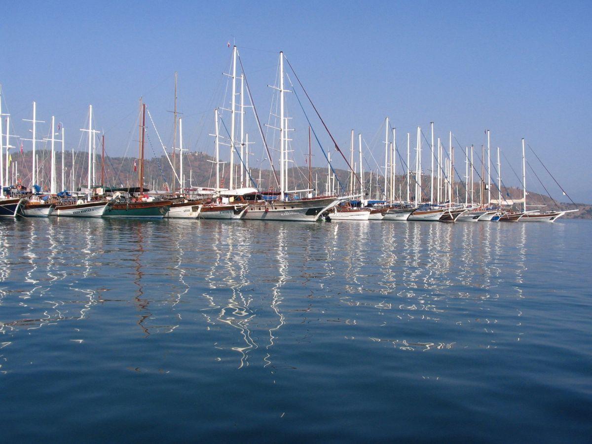 Gulets in Fethiye Harbour
