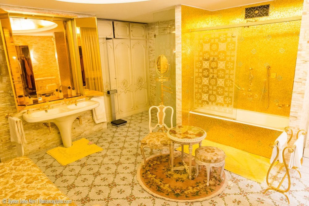 Nicolae and Elena Ceausescu's bathroom covered in gold