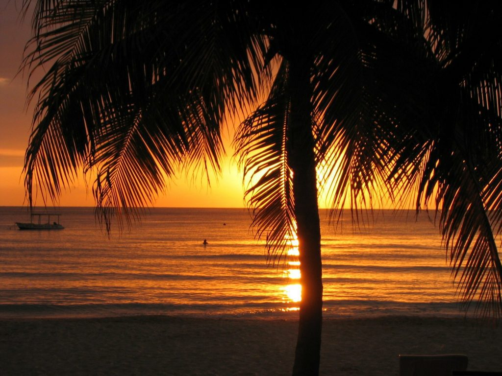 sunset at Negril